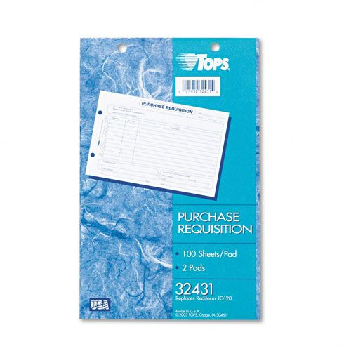 TOPS Purchase Requisition Pad