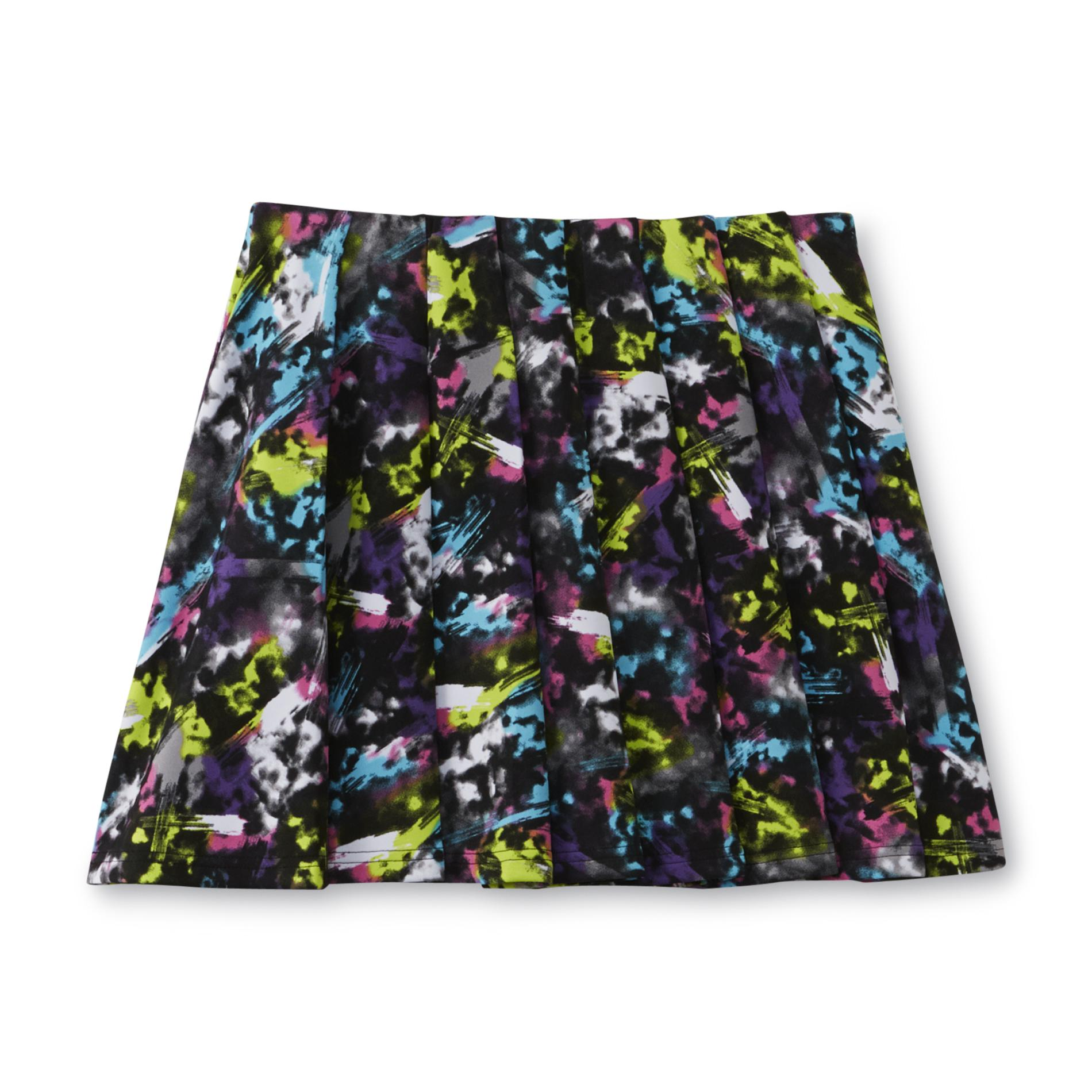 Girl's Pleated Skirt - Abstract