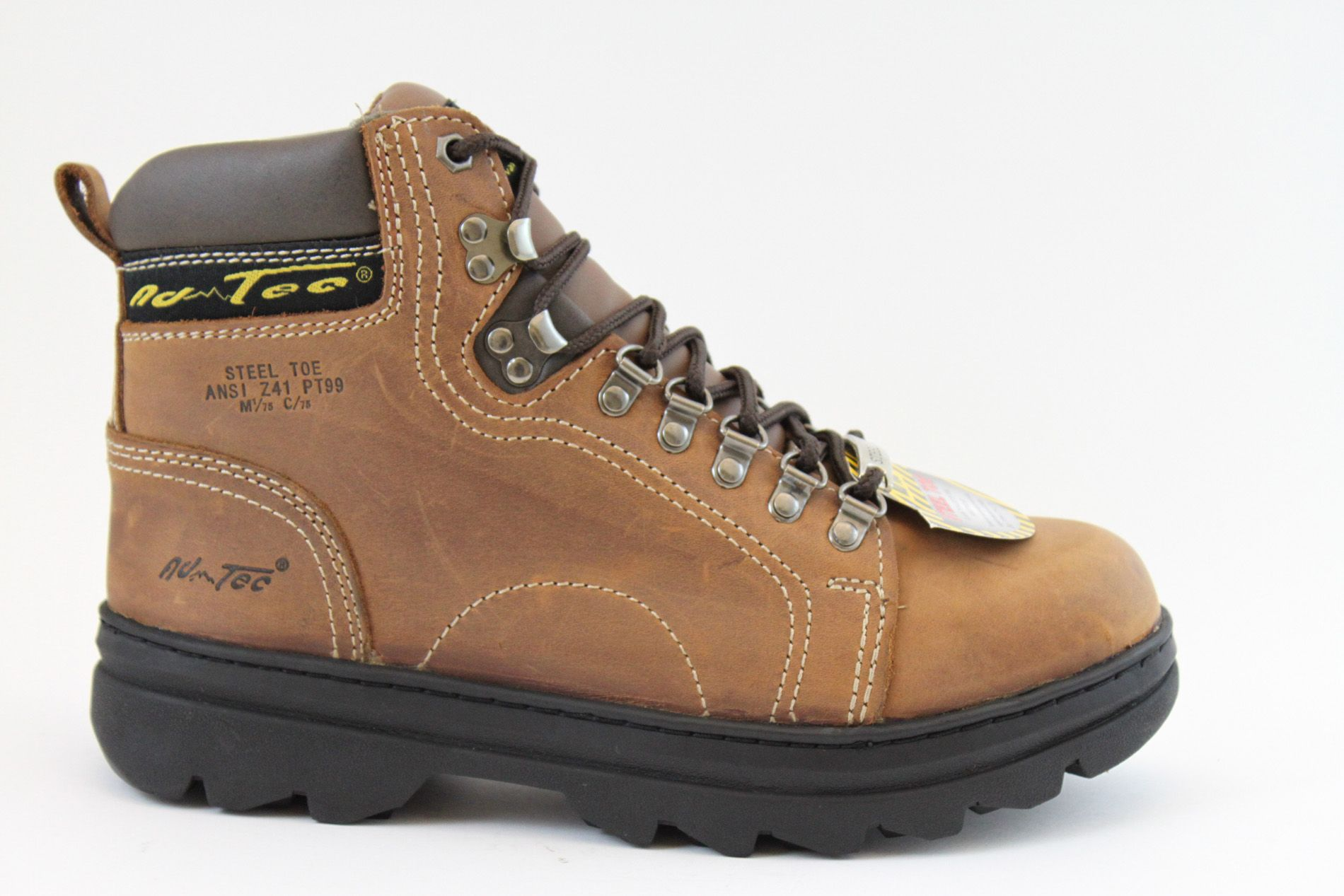 AdTec  Women's 6'' Steel Toe Fashion Hiker Boots Crazy Horse