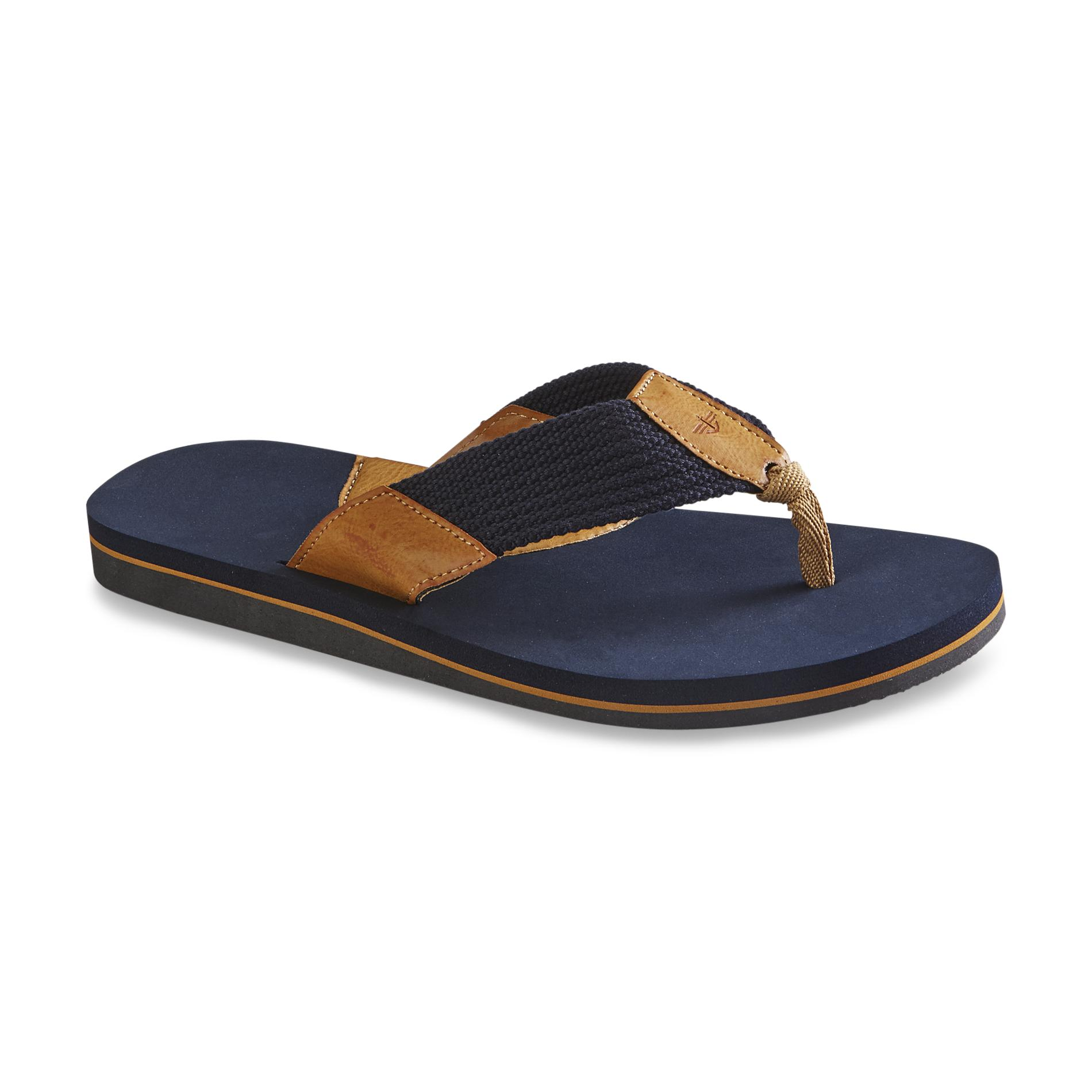 Dockers Men's Navy/Tan Flip-Flop