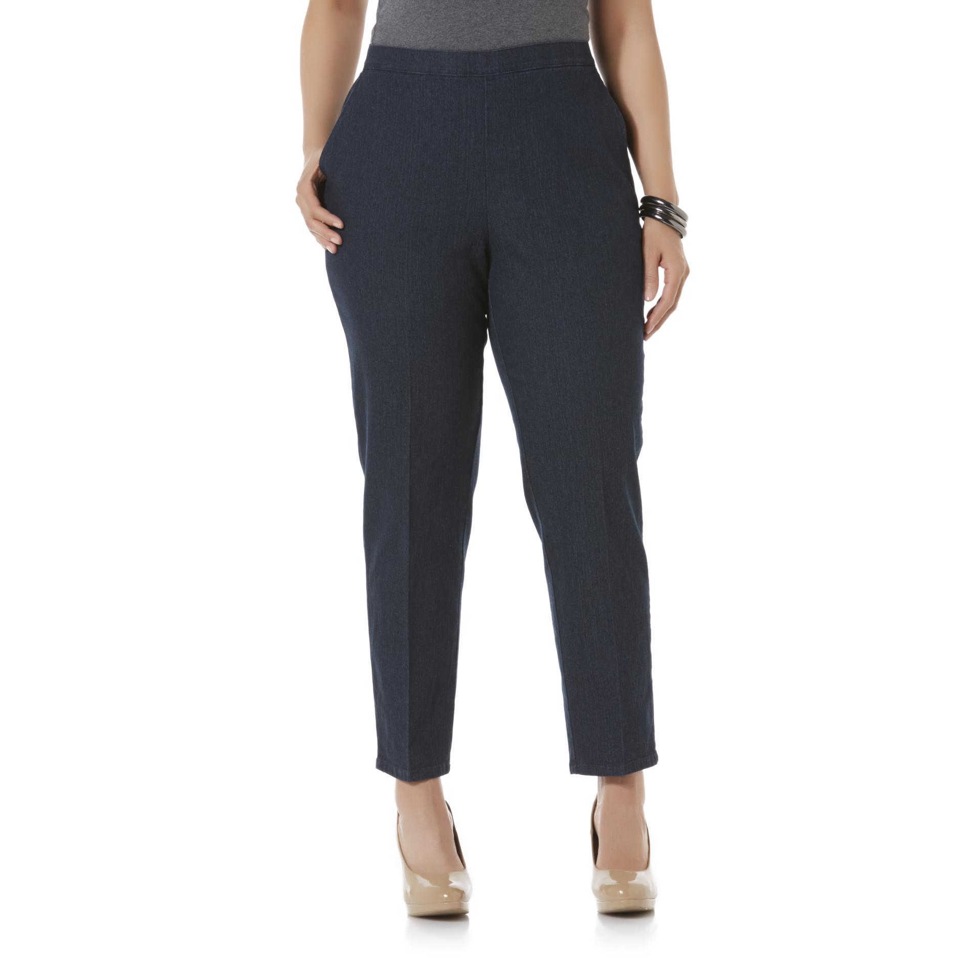 Laura Scott Women's Plus Elastic Waist Jeans