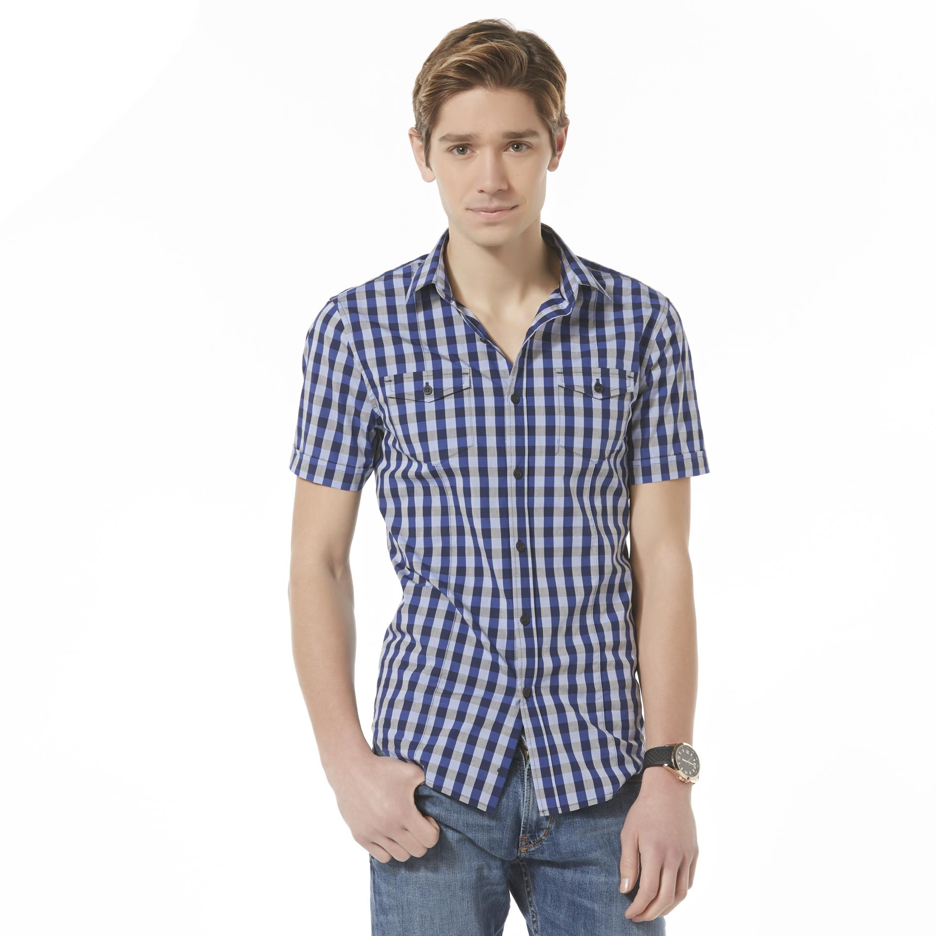 Structure Men's Short-Sleeve Casual Shirt - Gingham