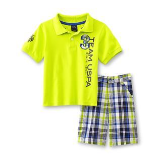 U.S. Polo Assn. Infant & Toddler Boy's Polo Shirt & Shorts - Team USPA