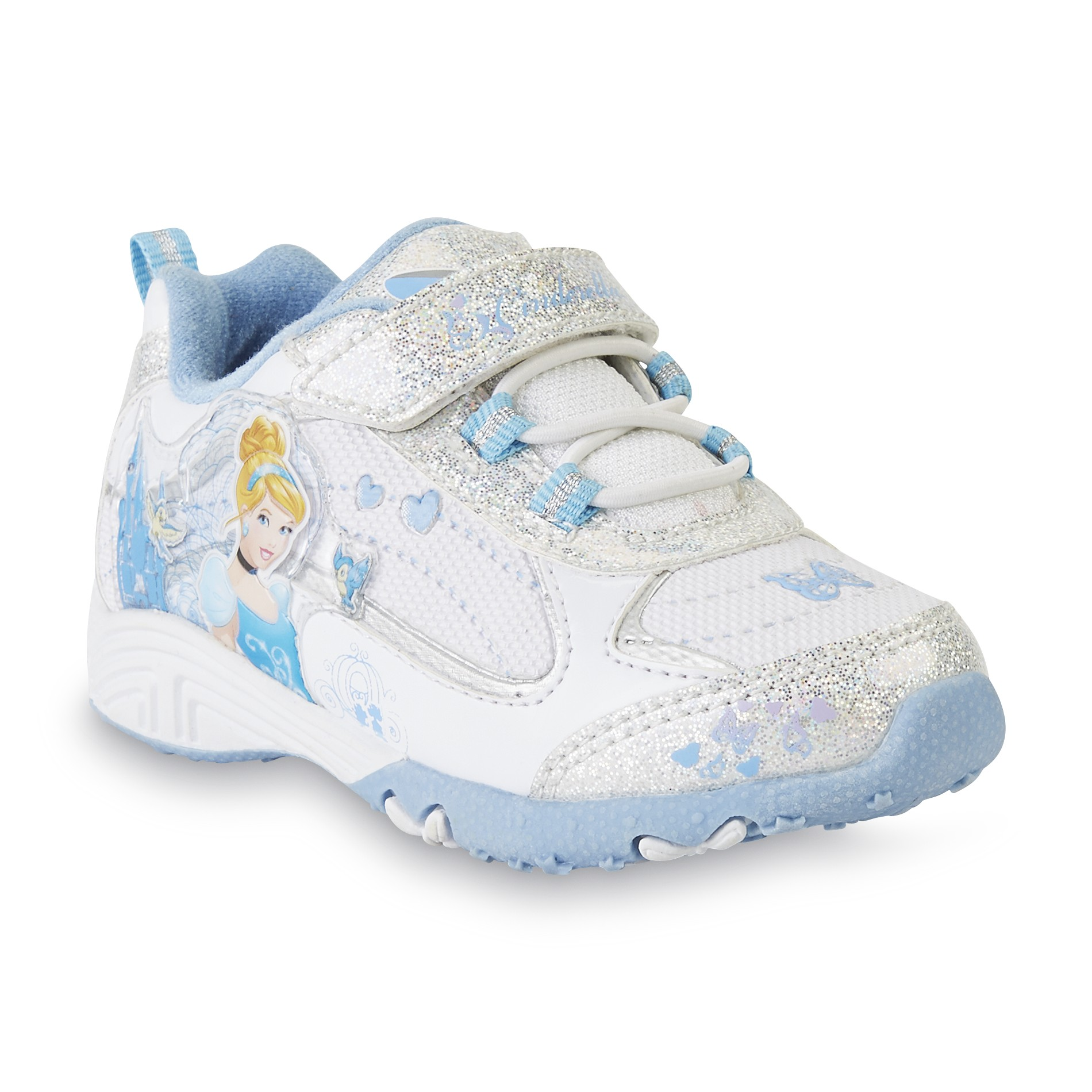 Disney Toddler Girl's Cinderella White/Blue Sneaker