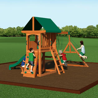 backyard discovery somerset all cedar swing set 1