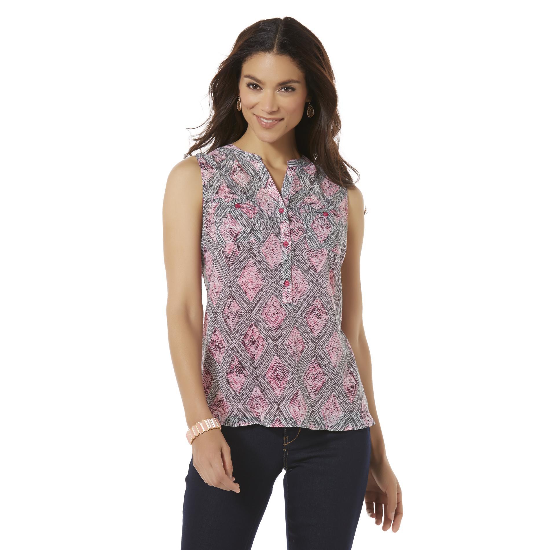 Covington Women's Sleeveless Top & Camisole - Diamond Pattern