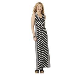 Jaclyn Smith Women's Sleeveless Maxi Dress - Striped at Kmart.com