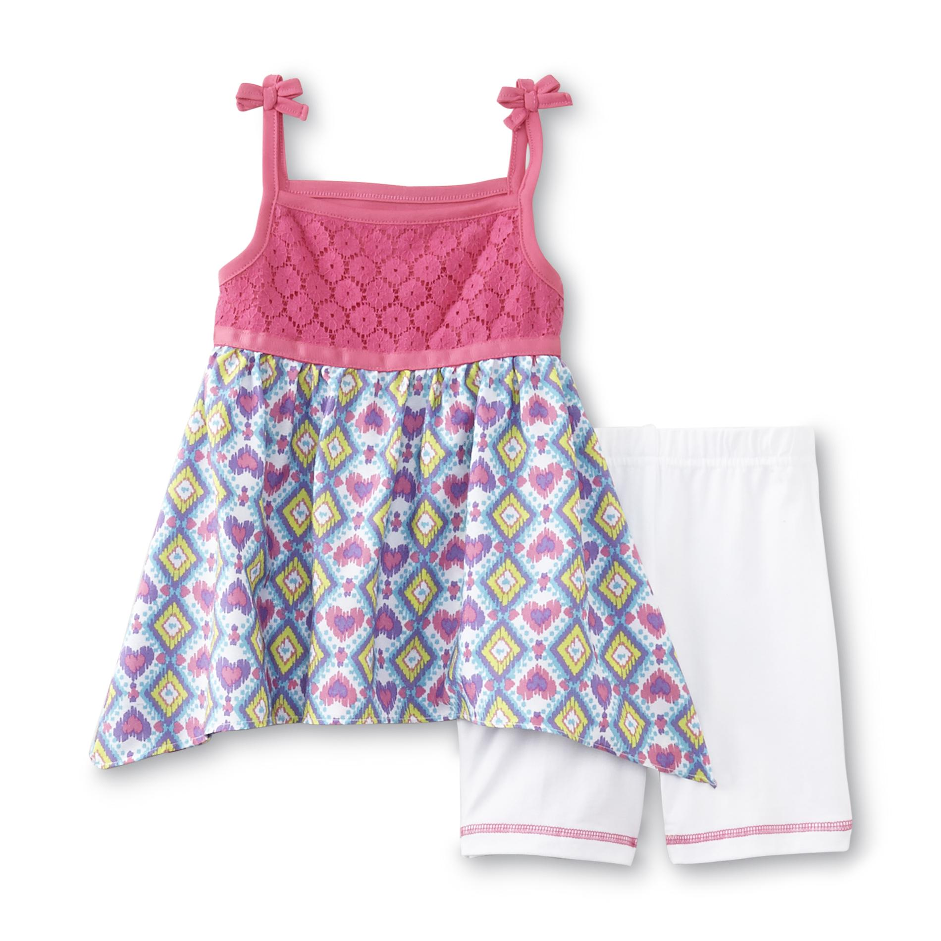 WonderKids Infant & Toddler Girl's Tunic Top & Shorts - Hearts