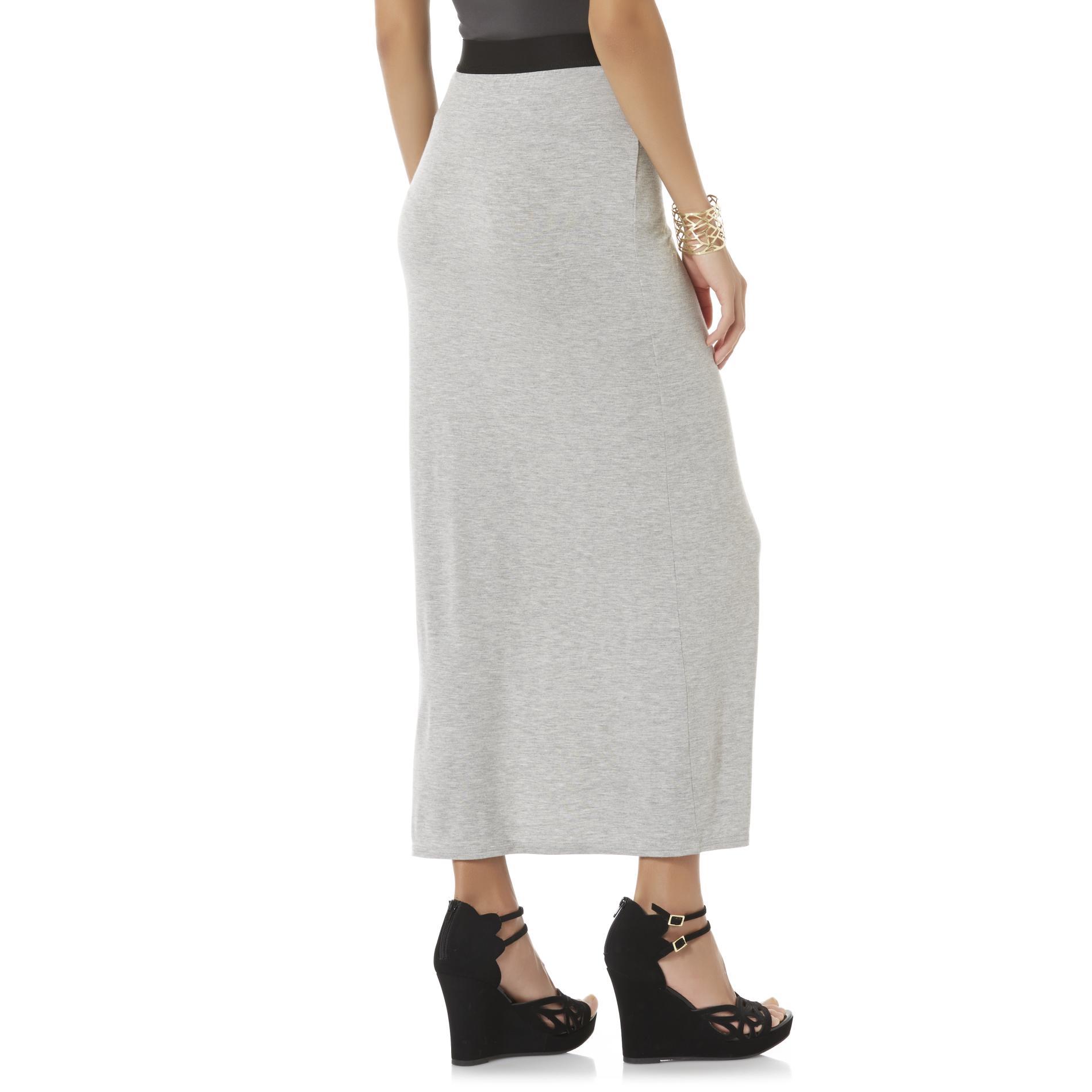 Attention Women's Jersey Knit Maxi Skirt