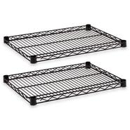 Alera Industrial Wire Shelves, Black, 18 x 24, Two/Pack at Sears.com