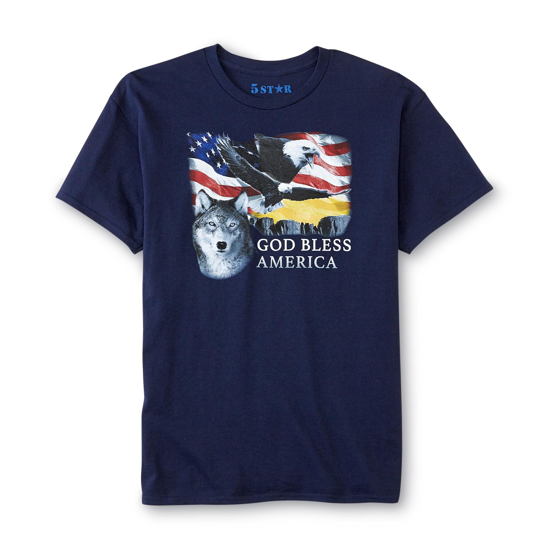 Men's Graphic T-Shirt - God Bless America