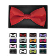 Men's Solid Color Banded Bow Ties