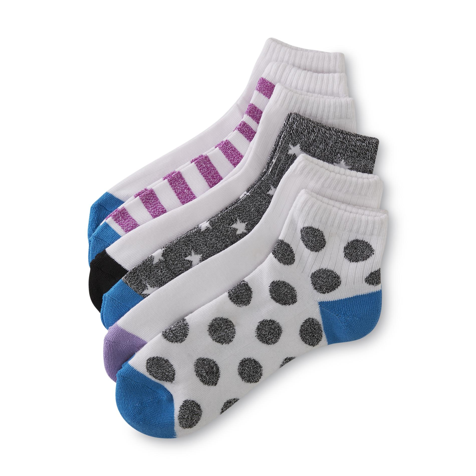 Joe Boxer Women's 6-Pairs Quarter Socks