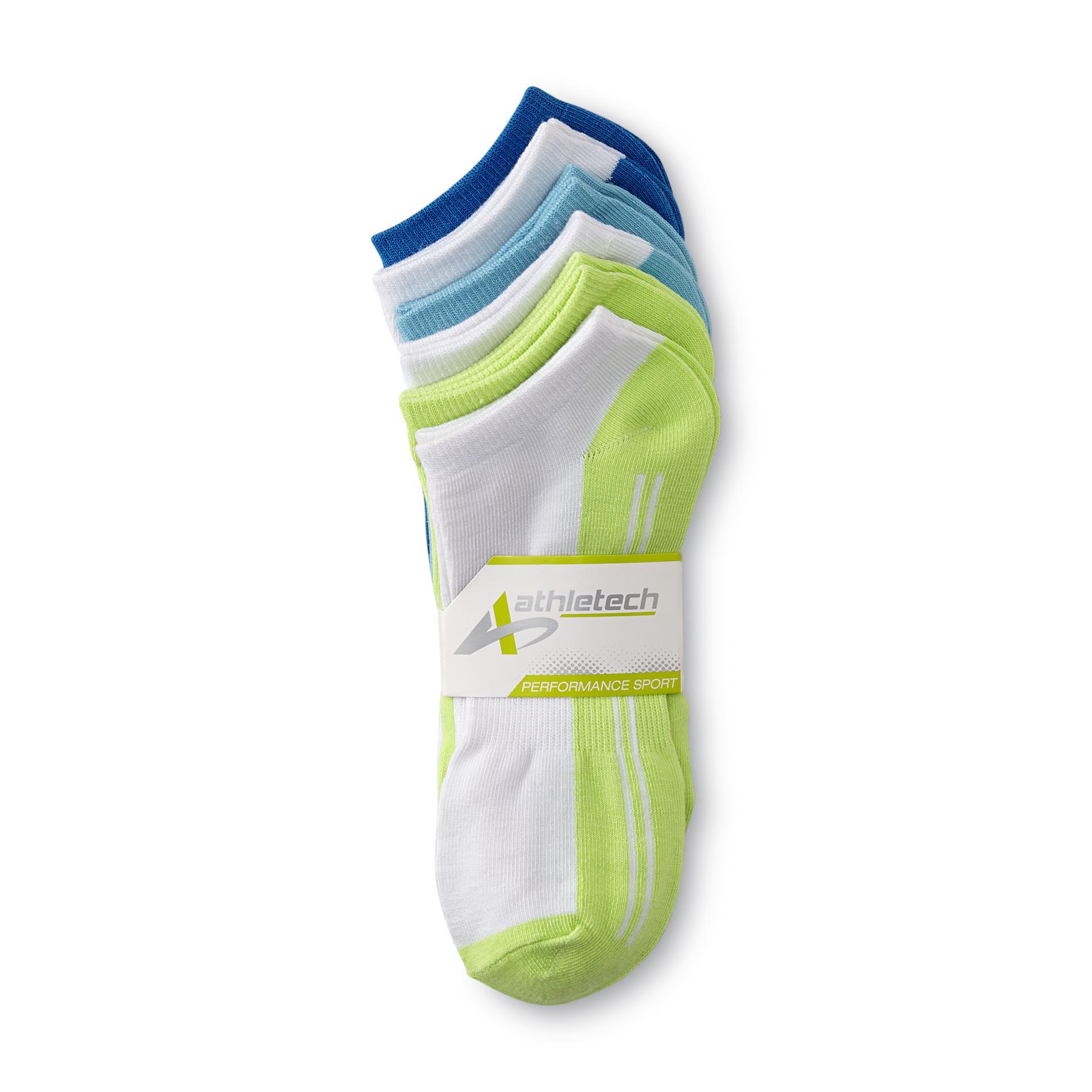 Athletech Women's 6-Pairs No-Show Performance Sport Socks