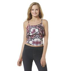 Bongo Junior's Flounce Crop Top - Tropical Floral at Kmart.com