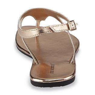 5a35f5862df Joe Boxer Joe Boxer Women s Miley Rose Gold Gladiator Thong Sandal 3