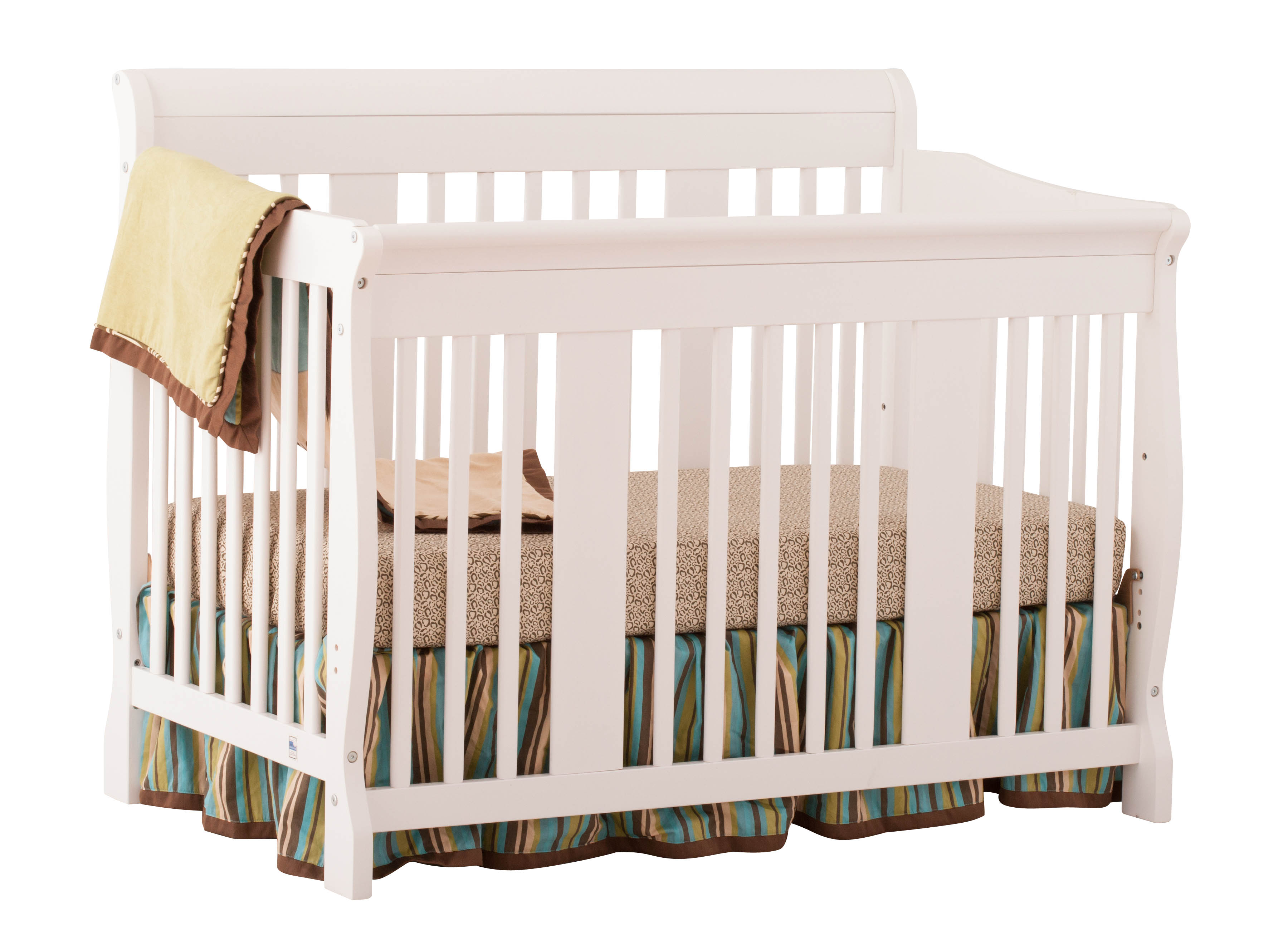 Tuscany 4 in 1 Convertible Crib - White