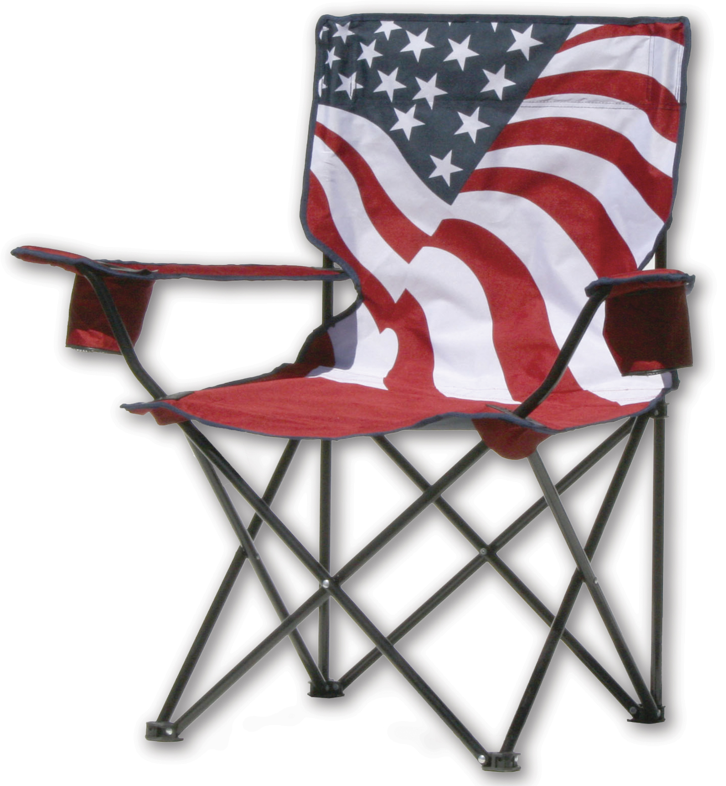 Quik Chair Quik Chair Folding Quad Chair - American Flag Pattern