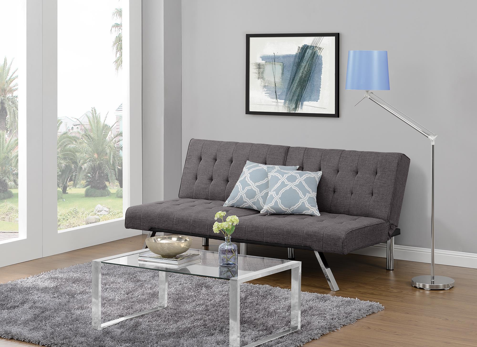Dorel Home Furnishings Emily Gray Linen Splitback Convertible