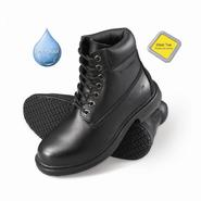 Genuine Grip Men's Slip-Resistant Waterproof Steel Toe Work Boots #7161 Black at Kmart.com