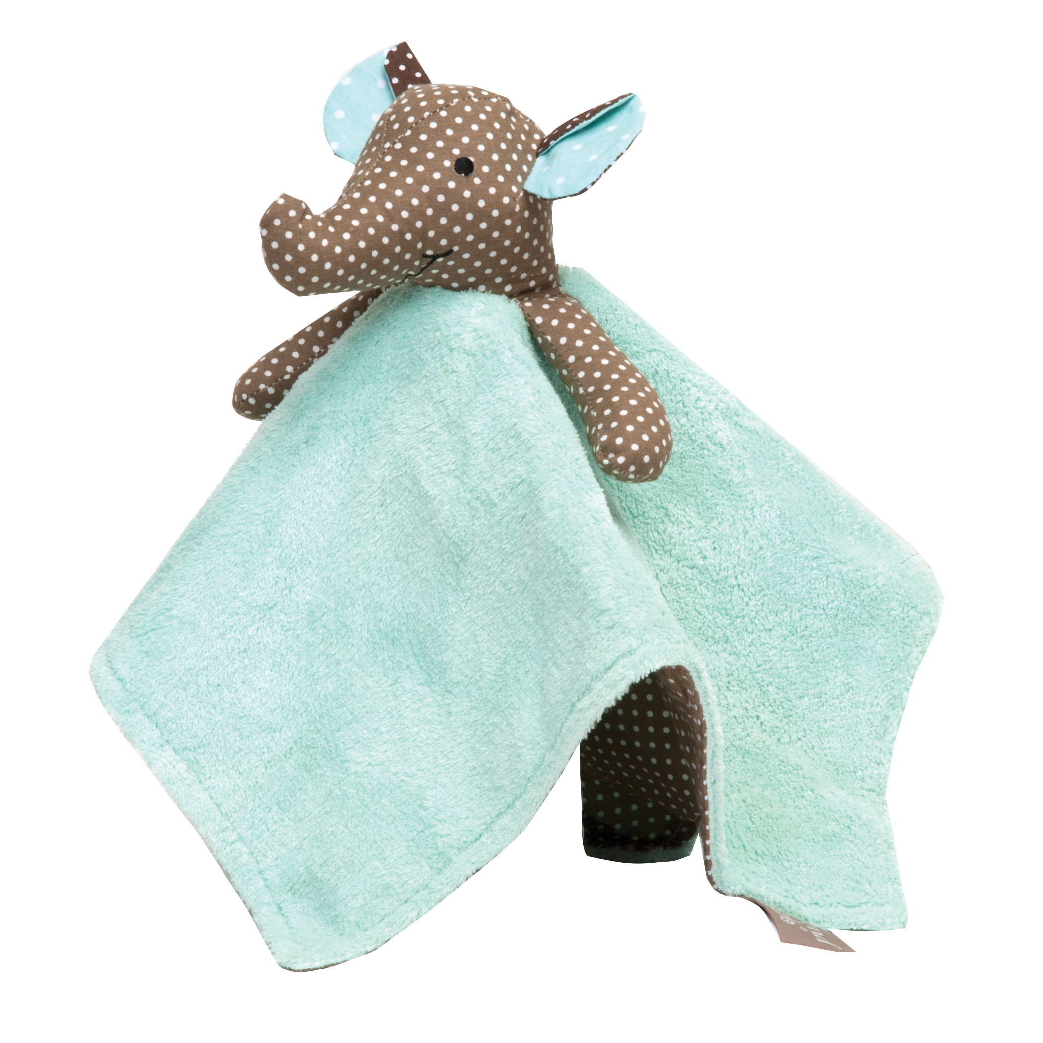 Trend Lab SECURITY SNUGGLE BLANKET COCOA MINT