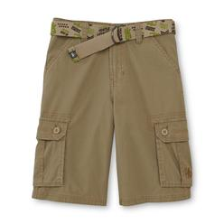 Never Give Up™ By John Cena® Boy's Woven Cargo Shorts & Belt - Pinstripes at Kmart.com