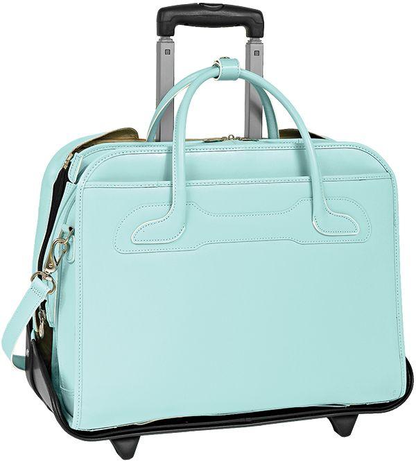 McKlein® McKlein® McKleinUSA WILLOWBROOK 94988 Blue Detachable-Wheeled Ladies' Briefcase