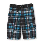 Never Give Up™ By John Cena® Boy's Belted Cargo Shorts - Plaid at Kmart.com