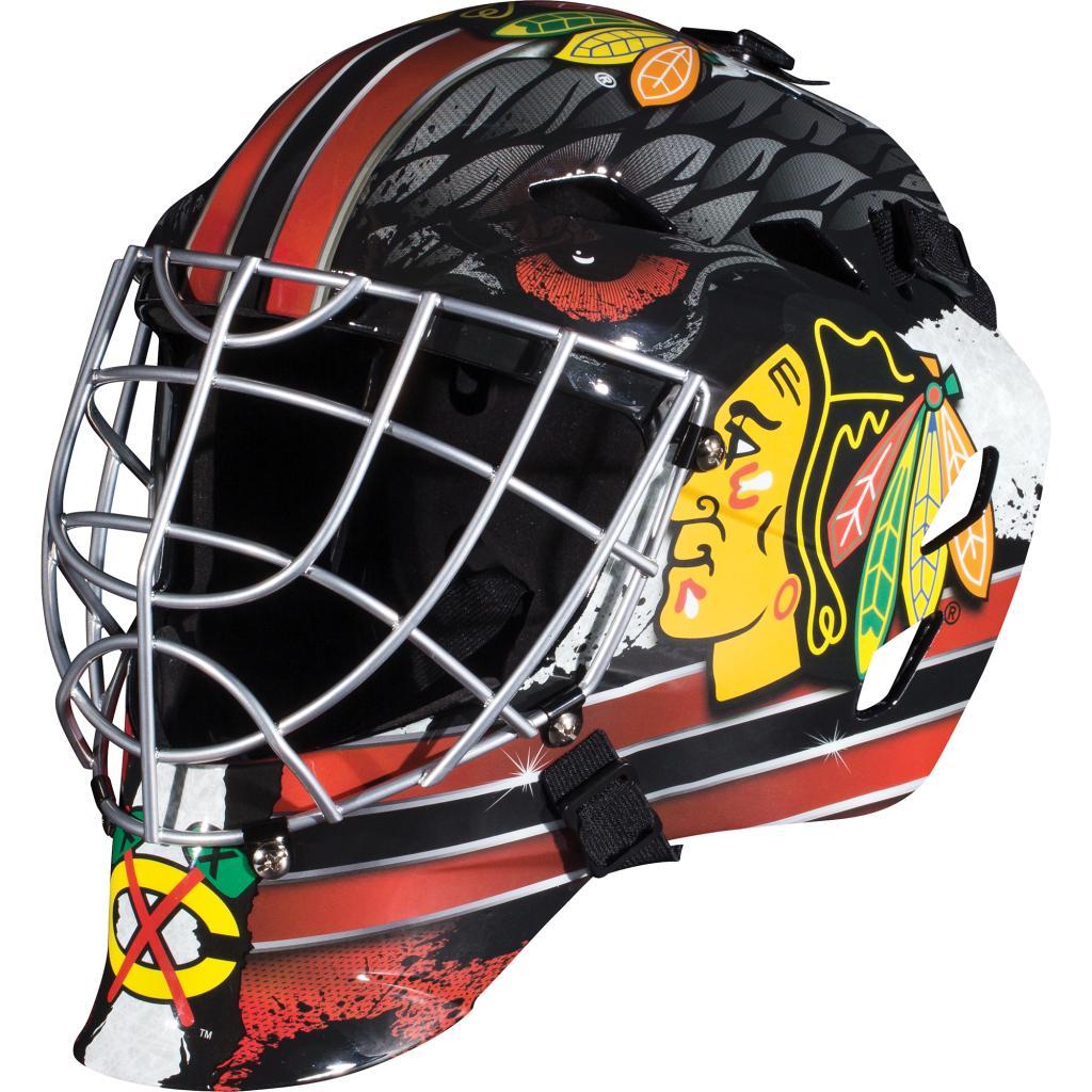 Franklin Sports GFM 1500 NHL Chicago Blackhawks Goalie Face Mask PartNumber: 00689025000P KsnValue: 6975352 MfgPartNumber: 74005F01E2