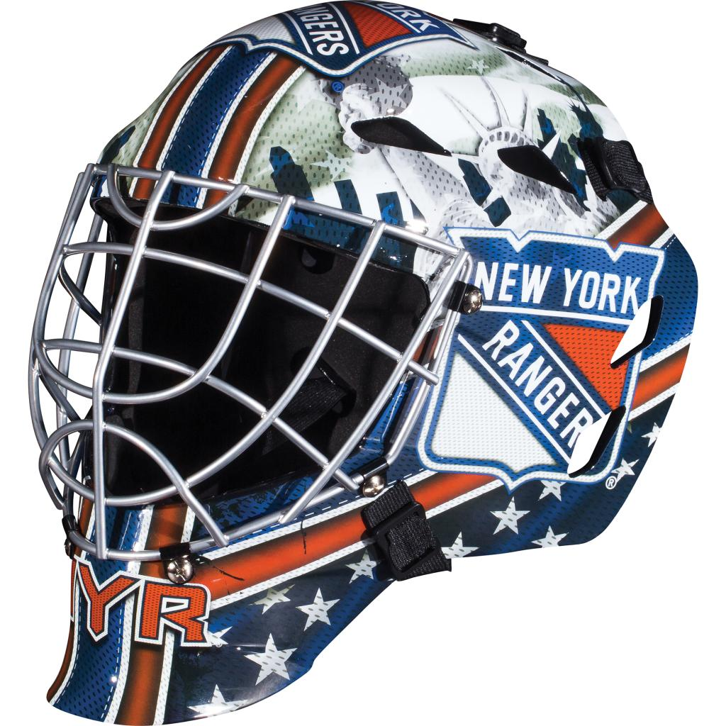 Franklin Sports Franklin Sports GFM 1500 NHL New York Rangers Goalie Face Mask