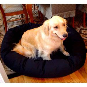 "Majestic Pet Small 24"" Bagel Donut Pet Dog Bed"
