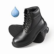 Genuine Grip Women's Slip-Resistant Waterproof Work Boots #760 Black at Sears.com