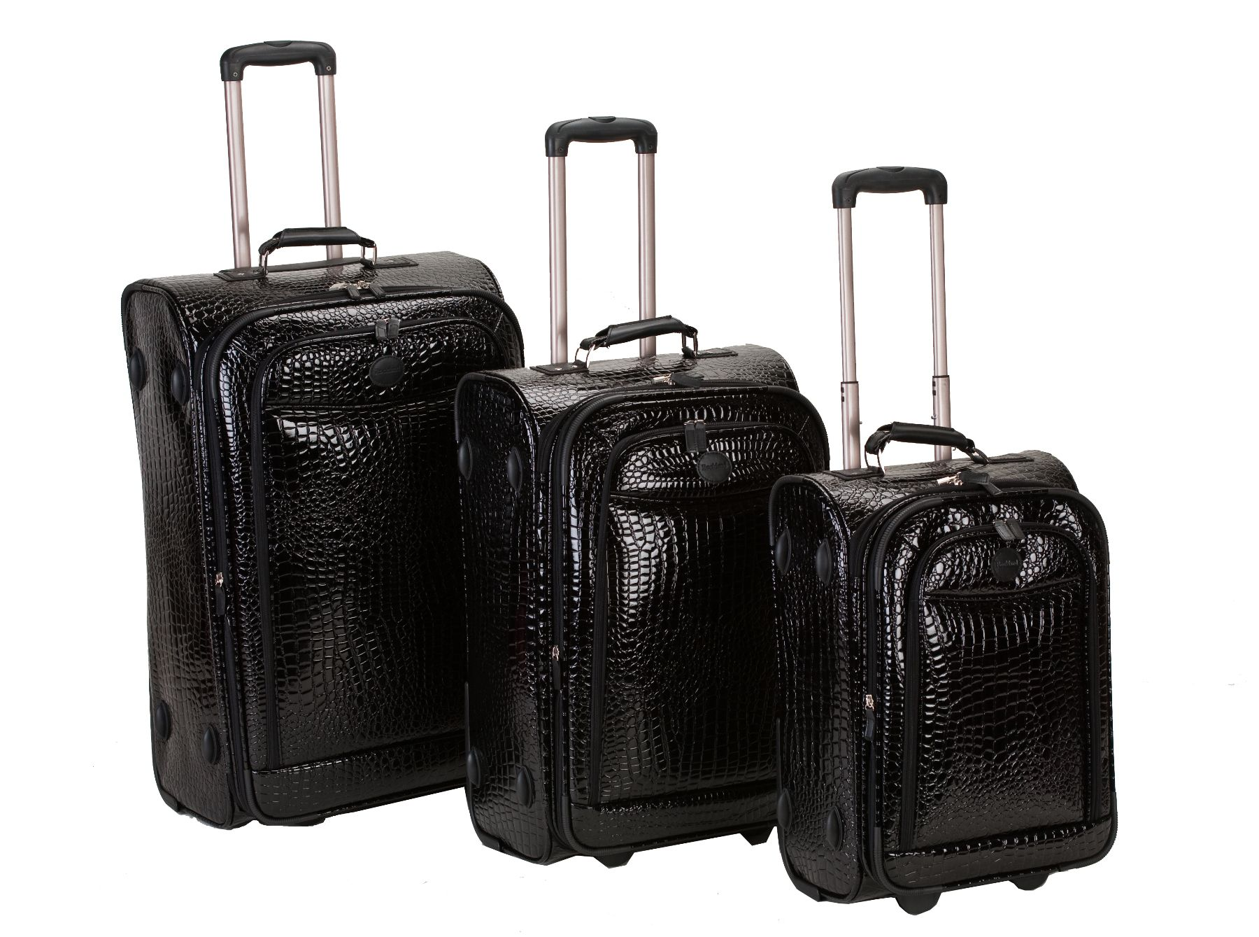 Rockland Fox Luggage  3 PIECE CROCODILE