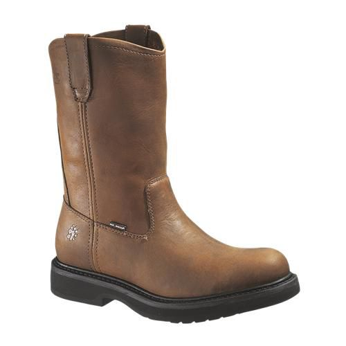 Ingham Durashocks Wellington Steel Toe Boot - Brown