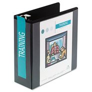 Wilson Jones D-Ring Vinyl View Binder, 4in Capacity, Black at Kmart.com