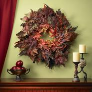 "Nearly Natural 30"" Maple Leaf Wreath at Kmart.com"