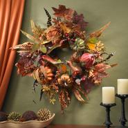"Nearly Natural 24"" Pumpkin & Berry Wreath at Kmart.com"