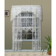 "Commonwealth Home Fashions Mona Lisa Engineered Jacquard Lace Tailored Panel (each) 56"" x 63"" - Available in White and Natural at Kmart.com"