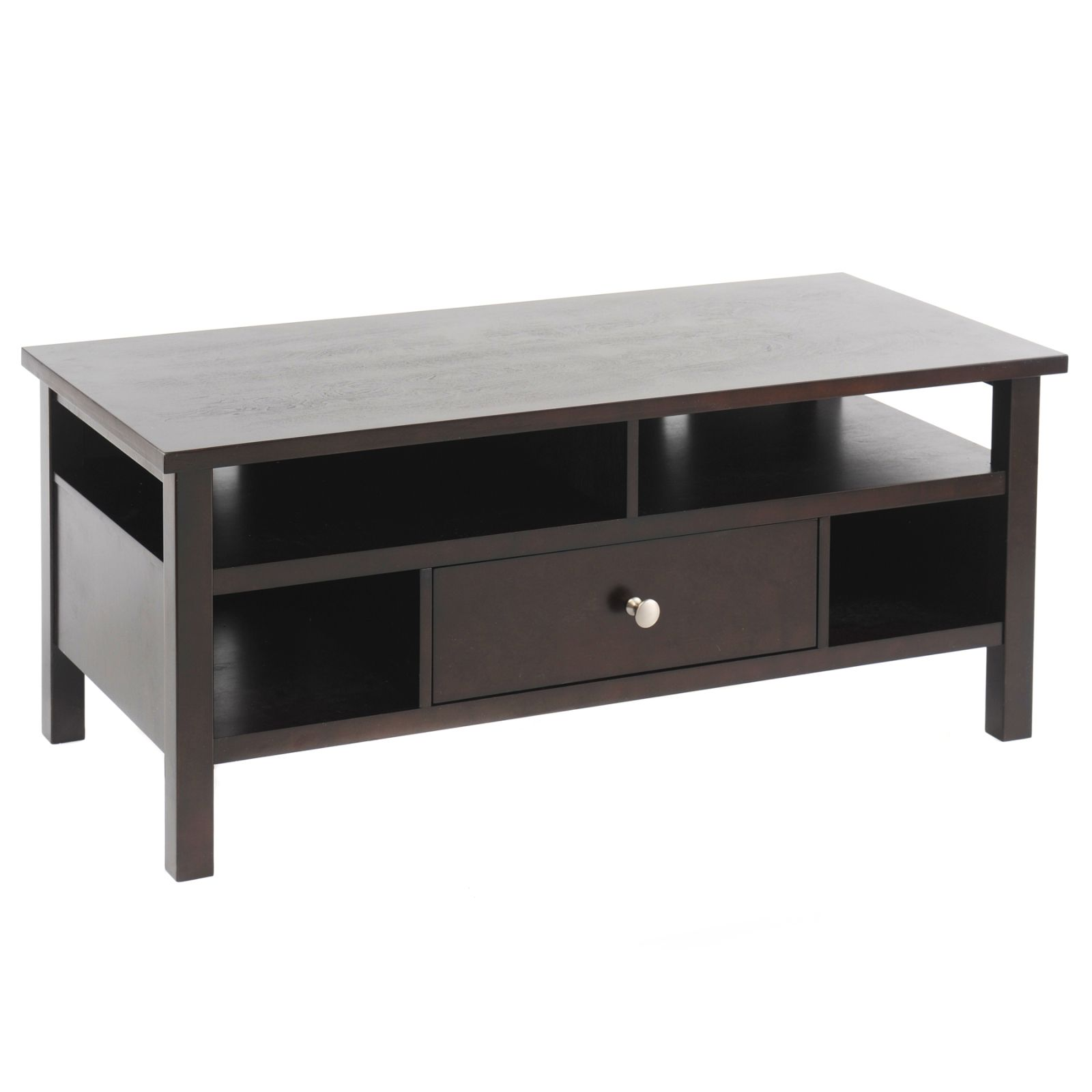 Bay Shore Collection Flat Screen/Tube TV Stand with Drawer - Espresso