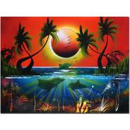 """Trademark Fine Art 18x24 inches """"Dolphins at Sunset"""" by Conrad at Kmart.com"""