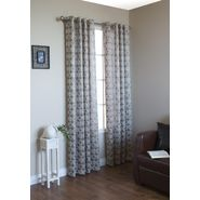 "Commonwealth Home Fashions Mayan Grommet Top Panel (each) 54"" x 84""- Available in Gold, Silver and White at Kmart.com"