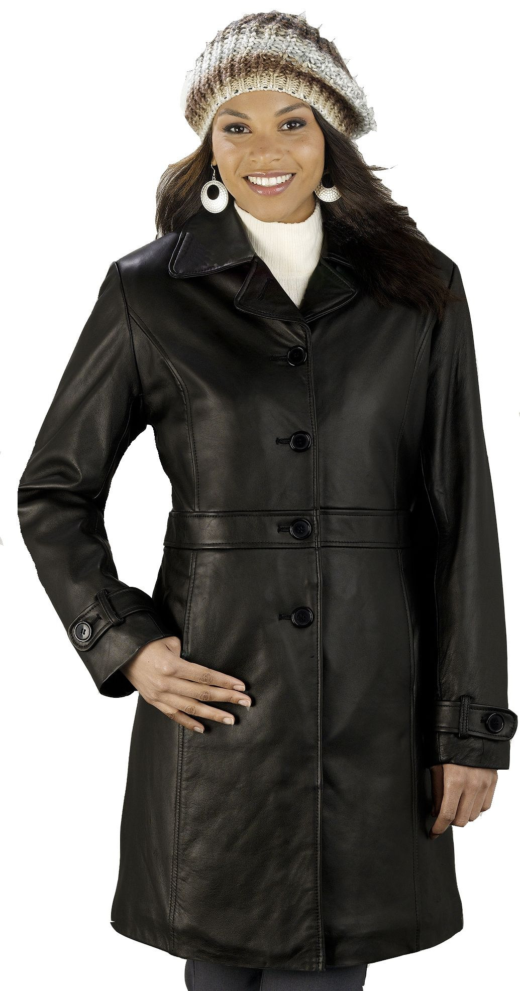 Ladies Lambskin Walking Coat