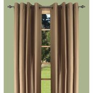 "Ricardo Trading Elegance Insulated/Thermal foam-backed DOUBLE-WIDE 108"" x 84"" grommet panel in Café au Lait/Brown at Kmart.com"