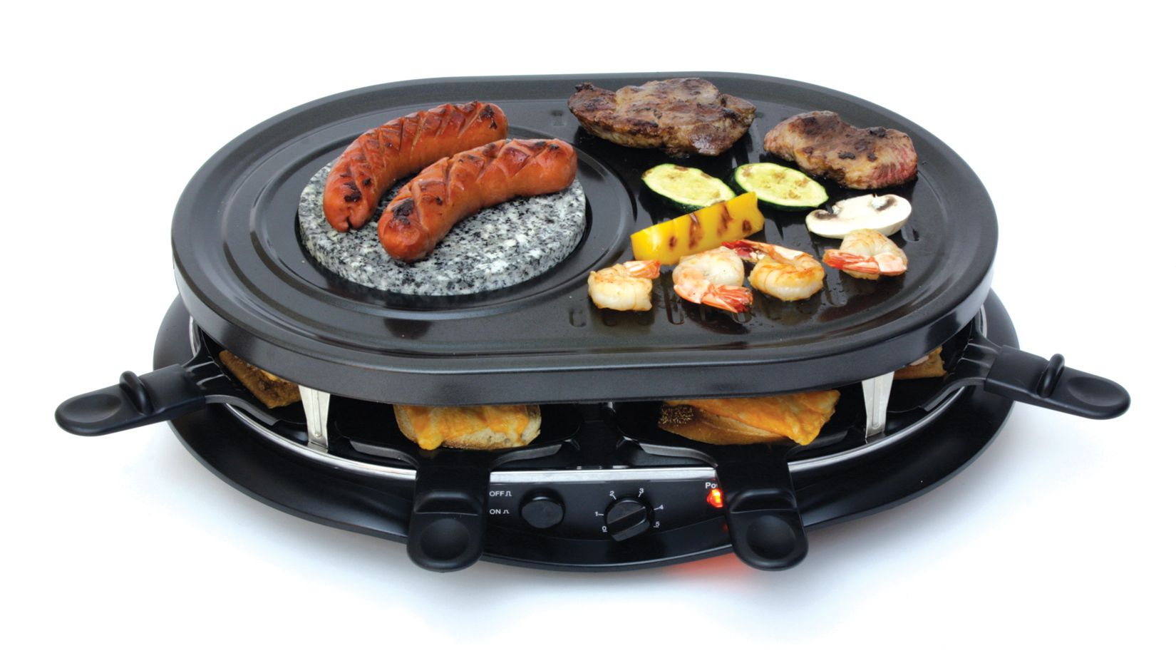 Total Chef 8 Person Party Grill Raclette with Fondue