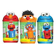 K'Nex SESAME STREET KICK-IT! ELMO, SWIM TIME ERNIE AND COOKIE MONSTER'S BASKETBALL BUNDLE CANISTER SET at Kmart.com