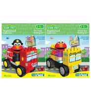 K'Nex SESAME STREET NEIGHBORHOOD COLLECTION FIRE TRUCK / SCHOOL BUS VEHICLE SET BUNDLE at Sears.com