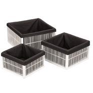 Household Essentials Wood Basket w/lining (Set of 3 L-M-S) at Kmart.com