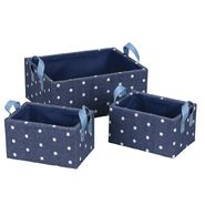 Household Essentials Paper Baskets/Royal Dots(Set of 3-1xL, 2xS) at Kmart.com
