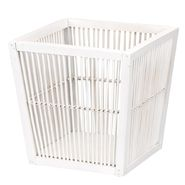 Household Essentials wood Waste Basket White Finish at Kmart.com