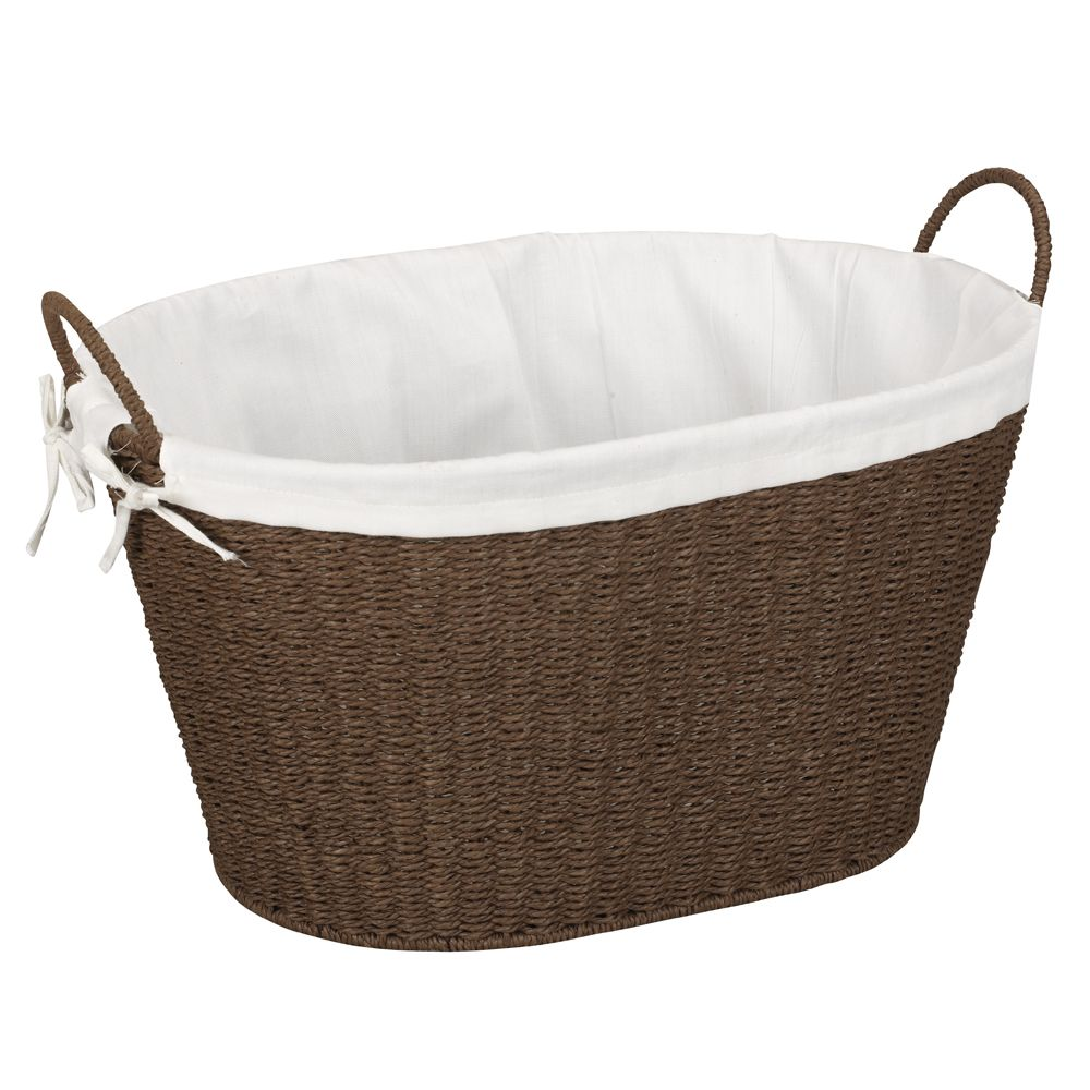Paper Rope Laundry Basket Stained